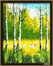 handmade diy oil painting autumn landscape
