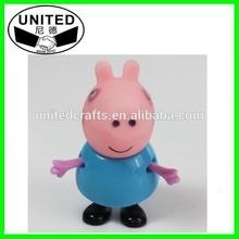 peppa pig vinyl production,make custom vinyl toy for kid,3d pvc diy vinyl toy