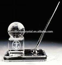 Crystal pen set for office decoration