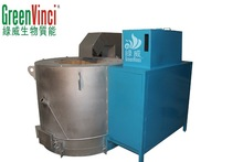 High quality automatic control biomass pellet aluminum melting furnace for India market