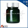 Vitam medicina frasco plástico com tampa de plástico, Vazio garrafa farmacêutica com lauminum cap, Verde escuro medicina frasco