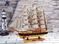 50CM Handmade Miniature Antique Sailing Ships Model Decoration For Sale