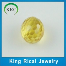 Wuzhou loose gemstone shine cut yellow loose beads glass stones,glass jewelry,loose kundan beads