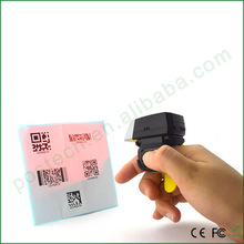 Wireless -Wearable Ring-style FS02 laser Qr Barcode Scanner Spp and HID mode