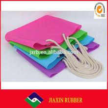 custom promotional waterproof silicone beach bag,fashion ladies silicone bag,silicone rubber beach bag