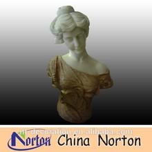 Habillés jupe jeune femme buste en marbre, lovely girl marbre buste. ntms- b169