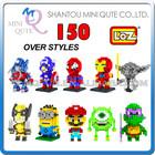 Mini Qute Over 150 styles 3d puzzle toy loz block plastic building blocks puzzle 3d puzzle puzzle cube educational toys 3d games