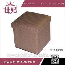 Caja de almacenaje plegable, caja de almacenamiento de tela, caja de almacenaje casera, del organizador del almacenaje