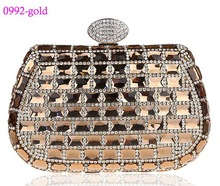 0992-gold fashion evening bag ladies handbags clutch bag