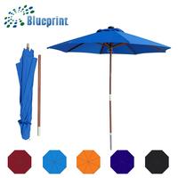Quality Innovative Patio Solar Panel LED Light Wooden Garden Umbrella