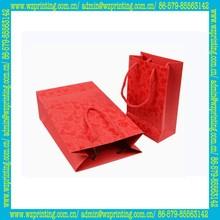 china supplier custom red natural craft paper shopping bag