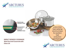 Stainless steel highly impact bottom cookware set