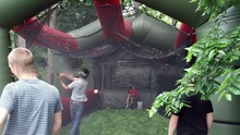 Durable baseball field inflatable batting cage,large high quality netting goal baseball batting cage