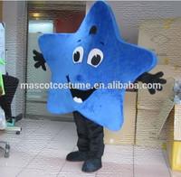 delicate blue star mascot costume lovely Pretty blue star cartoon costume blue star cosplay costume