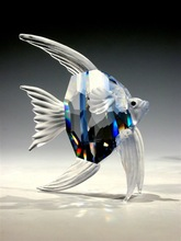 Fashionable Crystal Figurines Animal Fish For Holiday Gifts