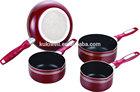 4pc alu non-stick cookware set