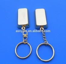 Blank metal gold bar keychain/key fob/keyring/keycharm