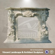 white marble fireplace mantle