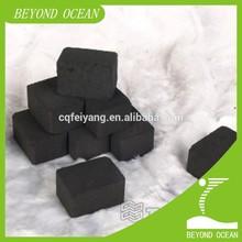 2.5*2.5*2.5cm coconut shell charcoal briquettes