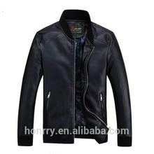 sale men stand collar pu leather coat
