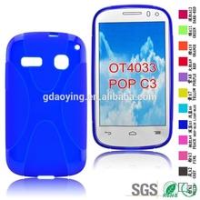 Customized phones cases Soft tpu phone covers for Alcatel OT4033 POP C3