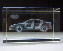 Nice personlized 3d laser etched glass cube for gifts