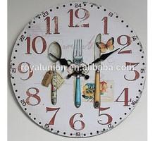 round paper stick wall clock, MDF backboard time clock