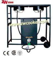 Portable outdoor gas cooking