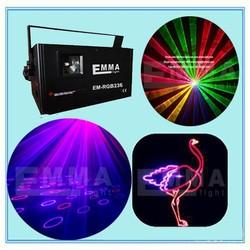 high quality 1200mW 1.2W FULL COLOR RGB ILDA DMX DJ Stage Laser Light Disco 25KKPS Scanner