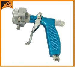 Hot on sales PE chrome paint mini double nozzle spray gun low price pen gun