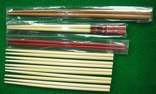 beautiful and smooth colorful arts and crafts round bamboo chopstick