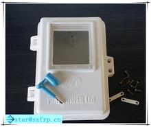Fibra de vidro smc impermeável retardador caixa do medidor de água