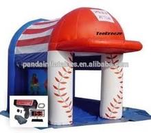 Baseball boy type custom size inflatable batting cage,small house type goal for baseball batting cage
