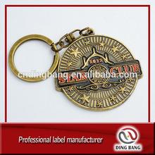 Custom made brass key chain, metal keychain,turbo keychain