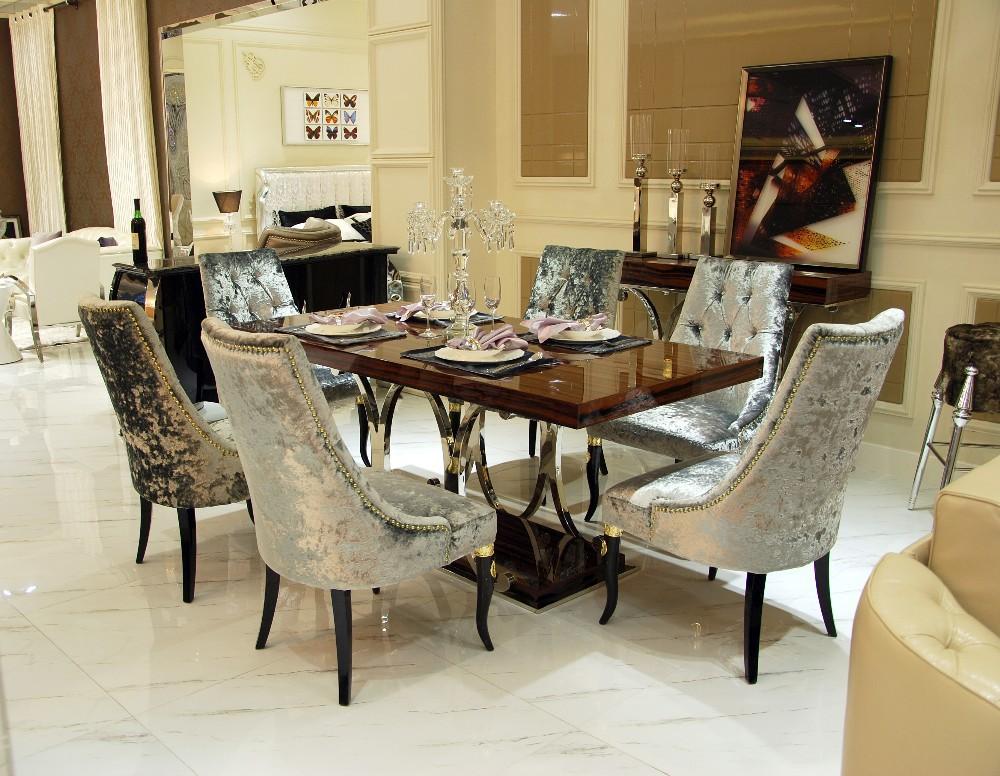 Marbre rectangulaire moderne table 224 manger et chaises  : Marbletoprectangularmoderndiningtableand from french.alibaba.com size 1000 x 776 jpeg 216kB