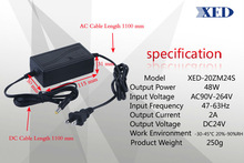 CE Rohs UL list DC 24V 2000ma ac dc power supply switching power adapter from China with different plugs