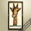 bom preço retrato girafa animal selvagem pintura de estoque pronto