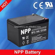 12V 14AH Rechargeable Storage SMF AGM Sealed Lead Acid Solar 24V Battery
