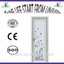 high grade nwe style room door with high corrosion/rust proof door handle powder coated aluminum frame sliding glass door