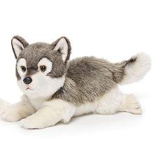 big white stuffed wolf toy