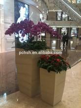 Manufacturer! Hot supply artificial flower pot/fiberglass flower pot vintage color/square sharp flowerpot
