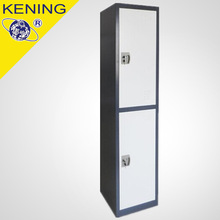 China Latest design 2 tier Metal gym locker with differnt color