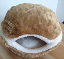 QQFactory katze burger bett /cat hamburger bed / hamburger pet bed