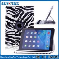 Factory Wholesale Zebra Stripe flip cover case for tablet