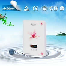 Multiple safety device portable electric shower water heater