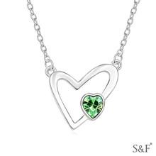 17801 European cross designer initial gemstone chain necklace