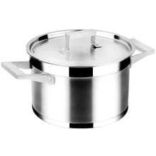 new style stainless steel metal soup pot steamer pot with lid cooking pot