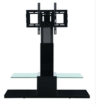 High quality fashion design hot sale tempered glass lcd tv stand RA056