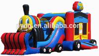 2014 fashion 3n1 thomas the train infaltable combo,inflatable slide, bouncer house