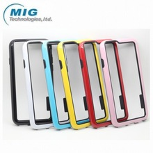 products China new arrival Plastic and TPU bumper Cell phone case for Iphone 6, for iphone 6 case 10 colors optional